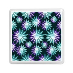 Stars Pattern Christmas Background Seamless Memory Card Reader (Square)
