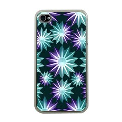Stars Pattern Christmas Background Seamless Apple Iphone 4 Case (clear)