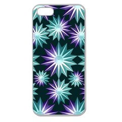 Stars Pattern Christmas Background Seamless Apple Seamless Iphone 5 Case (clear)