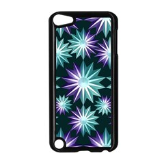 Stars Pattern Christmas Background Seamless Apple Ipod Touch 5 Case (black)