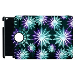 Stars Pattern Christmas Background Seamless Apple iPad 2 Flip 360 Case