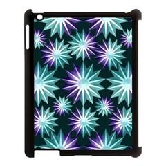 Stars Pattern Christmas Background Seamless Apple Ipad 3/4 Case (black)