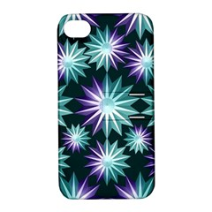 Stars Pattern Christmas Background Seamless Apple Iphone 4/4s Hardshell Case With Stand