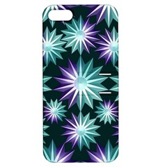 Stars Pattern Christmas Background Seamless Apple iPhone 5 Hardshell Case with Stand