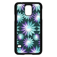 Stars Pattern Christmas Background Seamless Samsung Galaxy S5 Case (black)