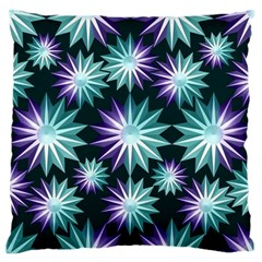 Stars Pattern Christmas Background Seamless Large Flano Cushion Case (two Sides)