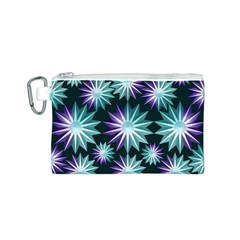 Stars Pattern Christmas Background Seamless Canvas Cosmetic Bag (S)