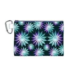 Stars Pattern Christmas Background Seamless Canvas Cosmetic Bag (m)