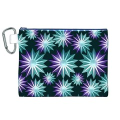 Stars Pattern Christmas Background Seamless Canvas Cosmetic Bag (XL)