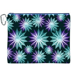 Stars Pattern Christmas Background Seamless Canvas Cosmetic Bag (xxxl)