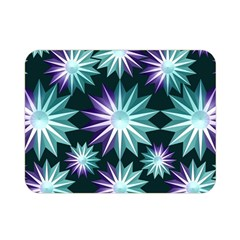 Stars Pattern Christmas Background Seamless Double Sided Flano Blanket (Mini)