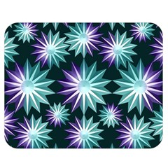 Stars Pattern Christmas Background Seamless Double Sided Flano Blanket (medium)