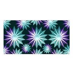Stars Pattern Christmas Background Seamless Satin Shawl
