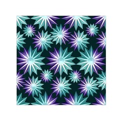 Stars Pattern Christmas Background Seamless Small Satin Scarf (square)