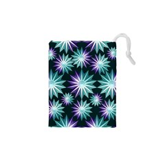 Stars Pattern Christmas Background Seamless Drawstring Pouches (XS)
