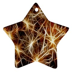 Star Golden Christmas Connection Ornament (Star)