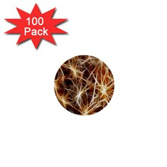 Star Golden Christmas Connection 1  Mini Buttons (100 Pack)