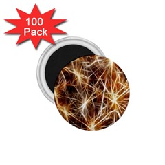 Star Golden Christmas Connection 1 75  Magnets (100 Pack)