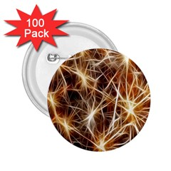 Star Golden Christmas Connection 2.25  Buttons (100 pack)