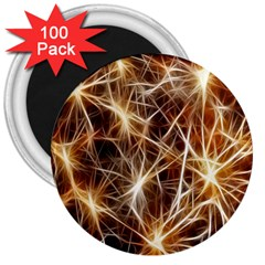 Star Golden Christmas Connection 3  Magnets (100 pack)