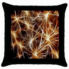 Star Golden Christmas Connection Throw Pillow Case (Black)