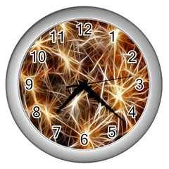 Star Golden Christmas Connection Wall Clocks (silver)
