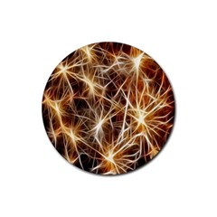 Star Golden Christmas Connection Rubber Round Coaster (4 pack)