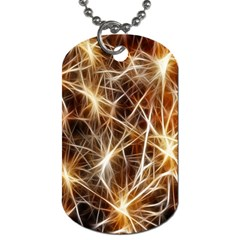 Star Golden Christmas Connection Dog Tag (one Side)