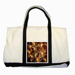 Star Golden Christmas Connection Two Tone Tote Bag
