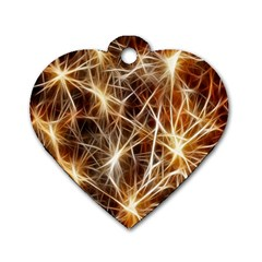 Star Golden Christmas Connection Dog Tag Heart (Two Sides)