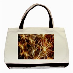 Star Golden Christmas Connection Basic Tote Bag (two Sides)