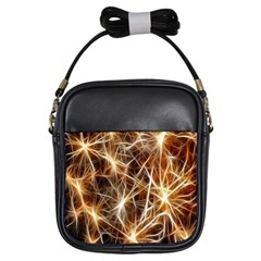 Star Golden Christmas Connection Girls Sling Bags