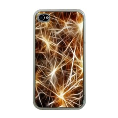 Star Golden Christmas Connection Apple Iphone 4 Case (clear)