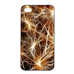 Star Golden Christmas Connection Apple iPhone 4/4s Seamless Case (Black)