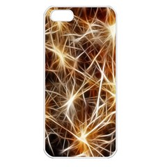 Star Golden Christmas Connection Apple Iphone 5 Seamless Case (white)