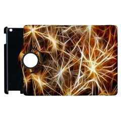 Star Golden Christmas Connection Apple Ipad 2 Flip 360 Case