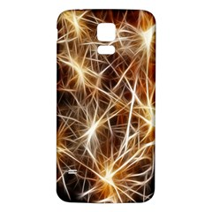 Star Golden Christmas Connection Samsung Galaxy S5 Back Case (White)