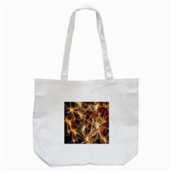 Star Golden Christmas Connection Tote Bag (White)