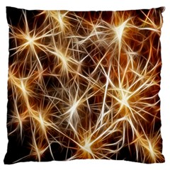 Star Golden Christmas Connection Large Flano Cushion Case (one Side)