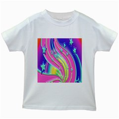 Star Christmas Pattern Texture Kids White T-Shirts