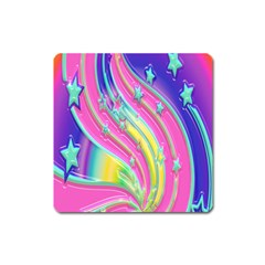 Star Christmas Pattern Texture Square Magnet