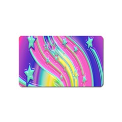 Star Christmas Pattern Texture Magnet (Name Card)