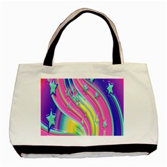 Star Christmas Pattern Texture Basic Tote Bag (Two Sides)