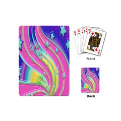 Star Christmas Pattern Texture Playing Cards (Mini)