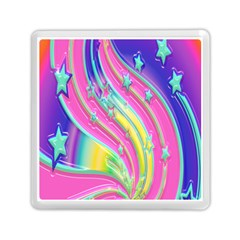 Star Christmas Pattern Texture Memory Card Reader (Square)