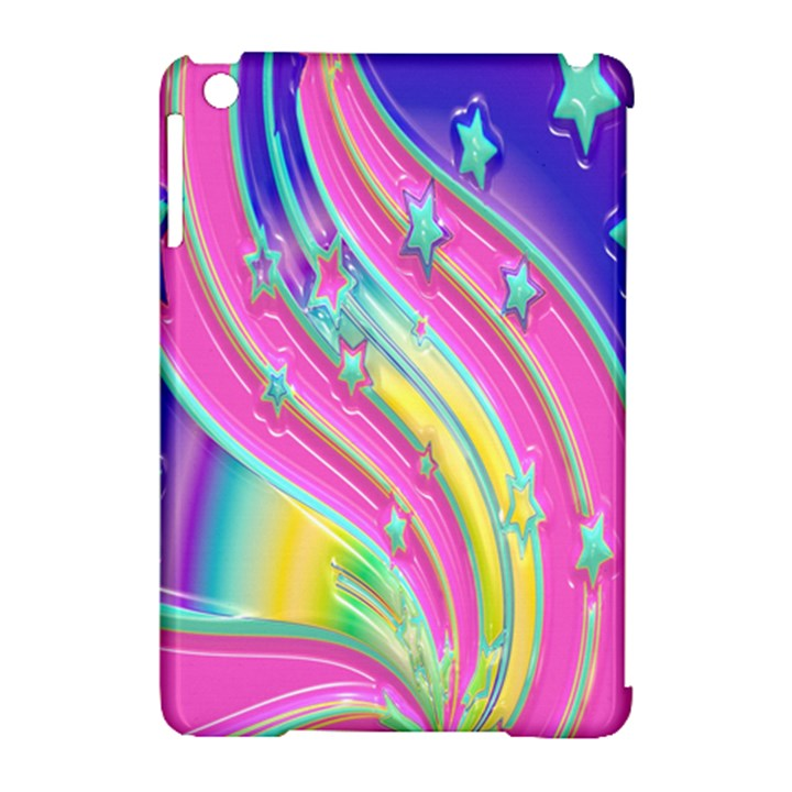 Star Christmas Pattern Texture Apple iPad Mini Hardshell Case (Compatible with Smart Cover)