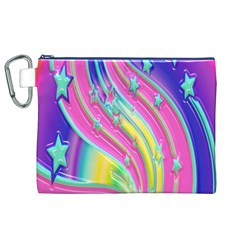 Star Christmas Pattern Texture Canvas Cosmetic Bag (xl)