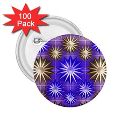 Stars Patterns Christmas Background Seamless 2.25  Buttons (100 pack)