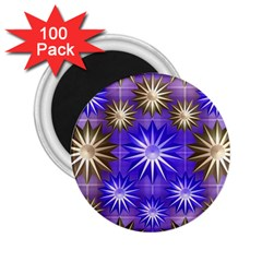 Stars Patterns Christmas Background Seamless 2.25  Magnets (100 pack)