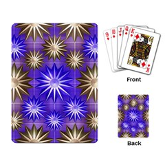 Stars Patterns Christmas Background Seamless Playing Card